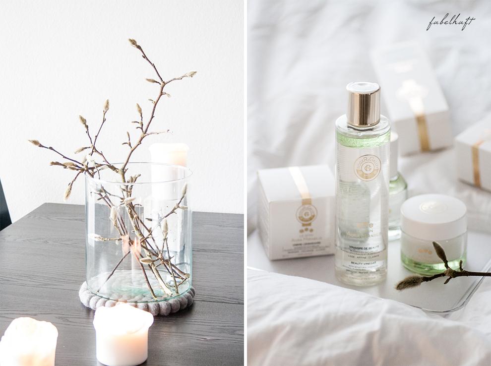 Flaconi Roger Gallet Skincare Hautpflege Winter Blogger Fein und Fabelhaft Interior Schlicht elegant Weiß Home Beauty (2) Aura Mirabilis