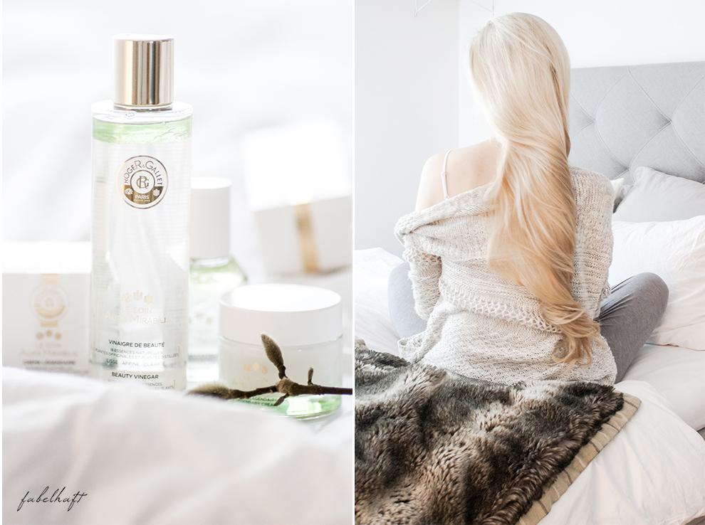 Flaconi Roger Gallet Skincare Hautpflege Winter Blogger Fein und Fabelhaft Interior Schlicht elegant Weiß Home Beauty 2 Aura Mirabilis