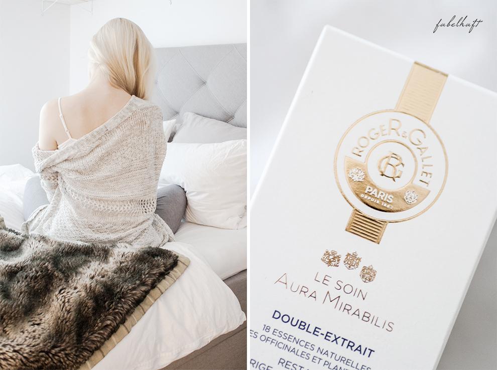 Flaconi Roger Gallet Skincare Hautpflege Winter Blogger Fein und Fabelhaft Interior Schlicht elegant Weiß Home Beauty 9 Aura Mirabilis