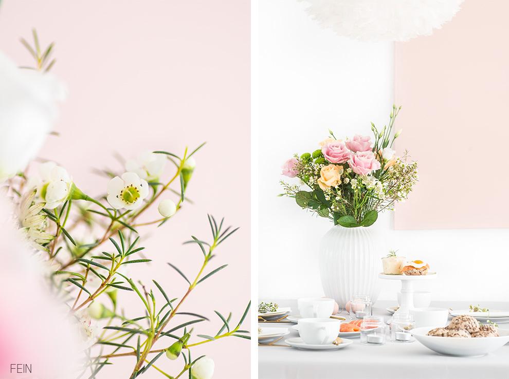 Osterbrunch Tischdeko Rosa
