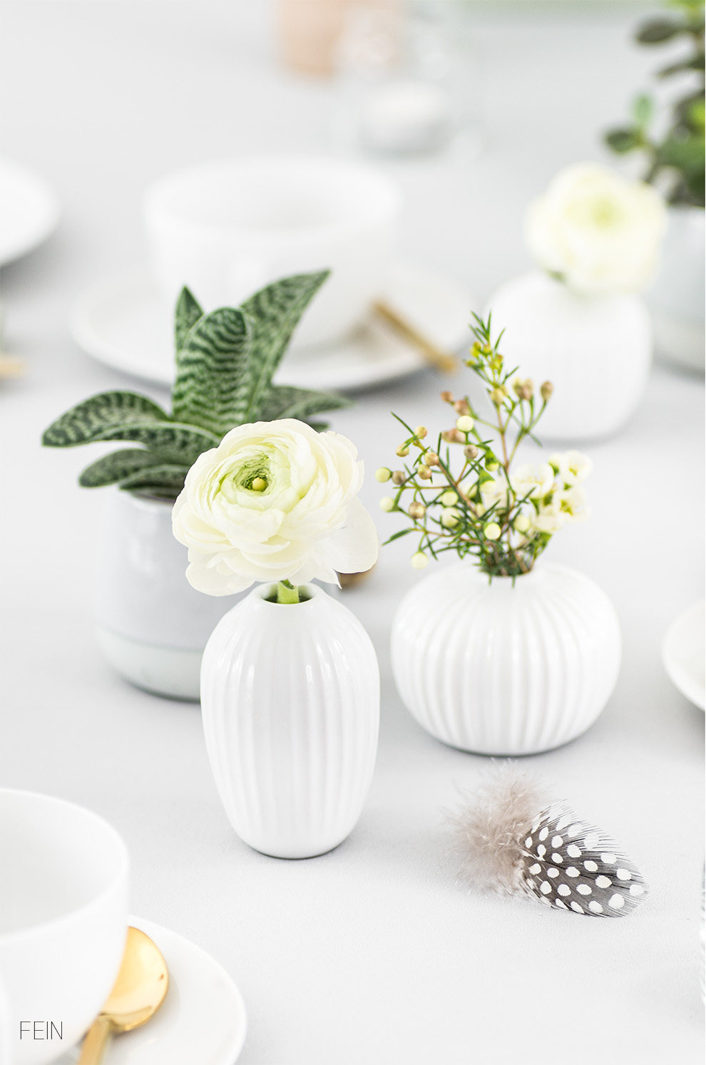 Osterbrunch Vasen Kähler Hammershoi