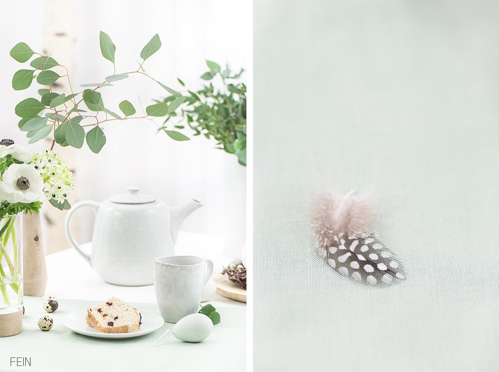 Osterideen Tisch gedeckt nordisch leicht