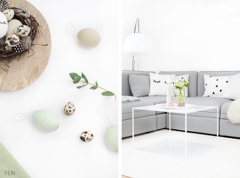 Osterideen wohnzimmer deko scandi fein und fabelhaft for Scandi deko