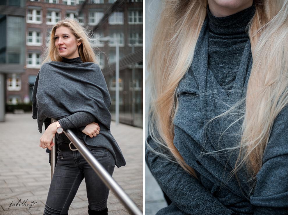 Zwillingherz Kaschmir Mode Trend Poncho Cashmere Fein und Fabelhaft Fashion Köln City Lifestyle Stadtleben Blond Blogger 9