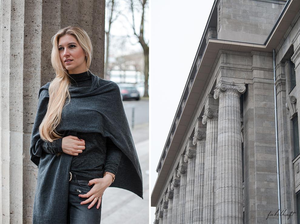 Zwillingherz Kaschmir Mode Trend Poncho Cashmere Fein und Fabelhaft Fashion Köln City Lifestyle Stadtleben Blond Blogger 3