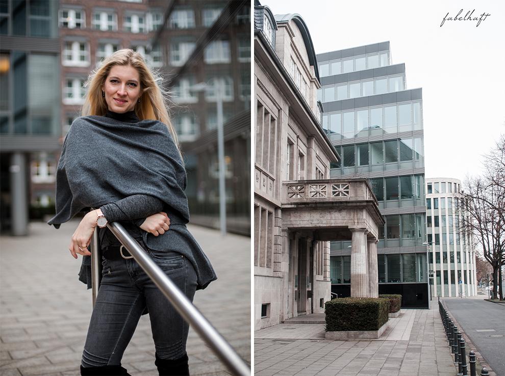 Zwillingherz Kaschmir Mode Trend Poncho Cashmere Fein und Fabelhaft Fashion Köln City Lifestyle Stadtleben Blond Blogger 7