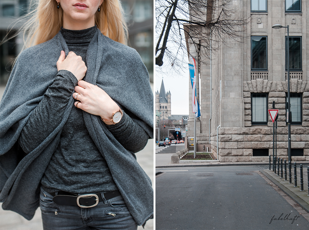 Zwillingherz Kaschmir Mode Trend Poncho Cashmere Fein und Fabelhaft Fashion Köln City Lifestyle Stadtleben Blond Blogger 8