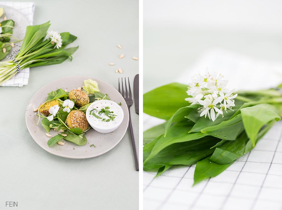 Falafel Bärlauch Frühlingssalat