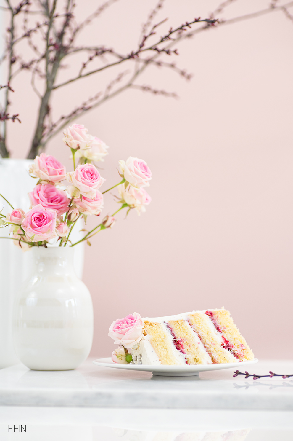Geburtstag Cake Frühling Rosen