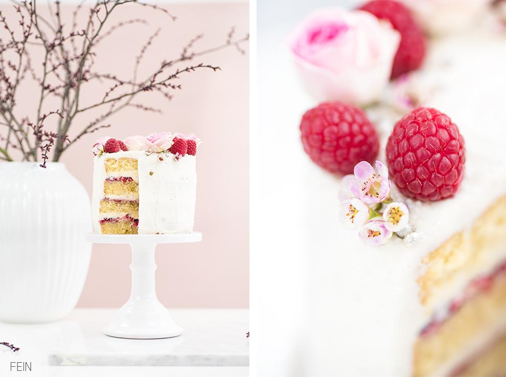 Geburtstag Torte Himbeer Vanille