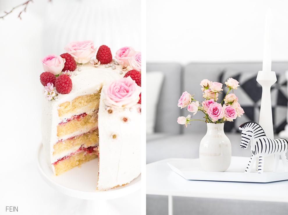 Geburtstag Torte Himbeere