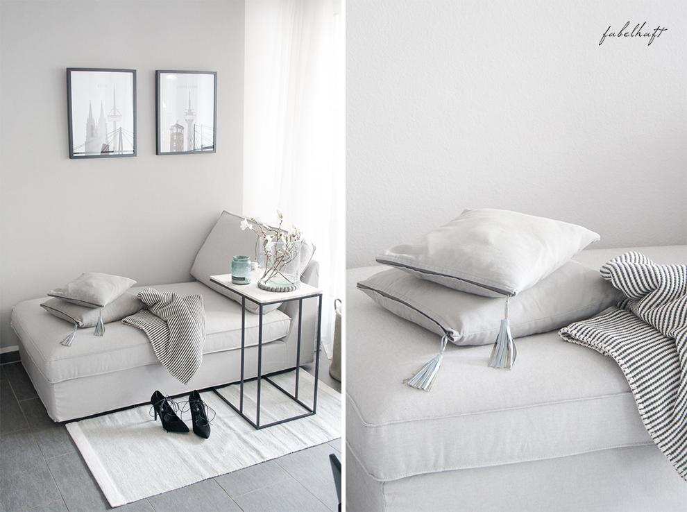 Recarmiere Fein und Fabelhaft Blog Lounge Interior Trend Europa Apotheek Möve Grau Frühling