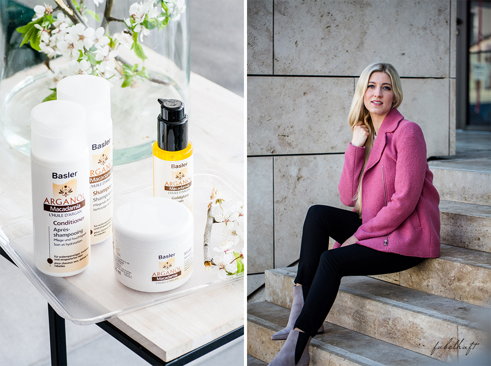 Basler Arganöl Shampooo Haarpflege Haircare Ostern Outfit Frühling Rosa Stiefeletten High trashed Trend 5