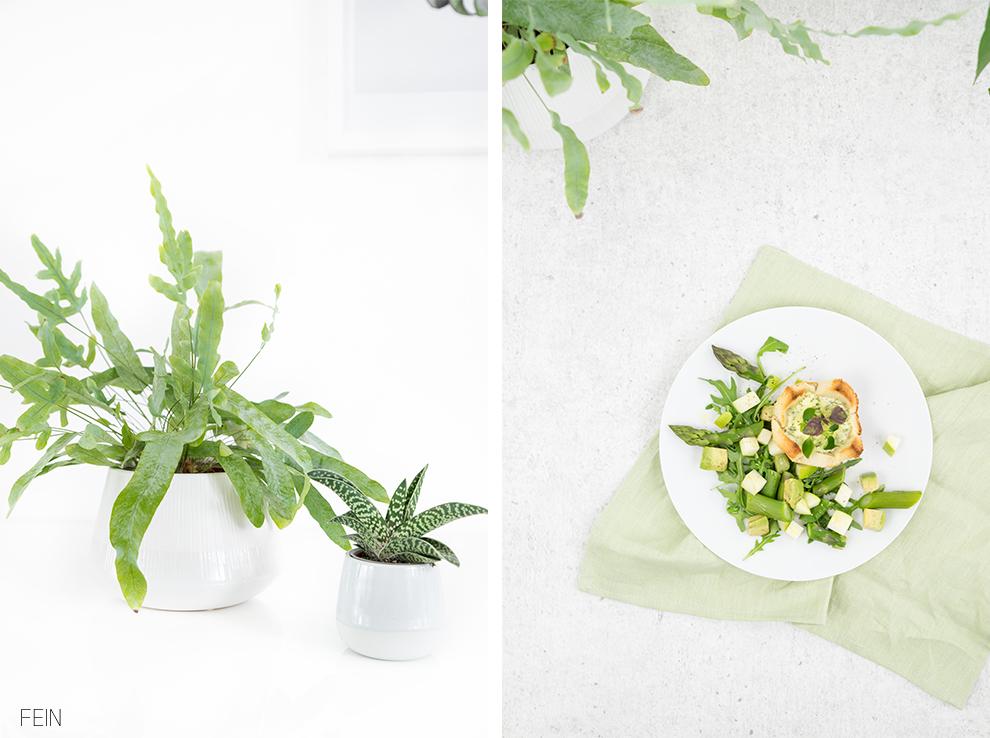 Greenery Sommer Dinner Spargel