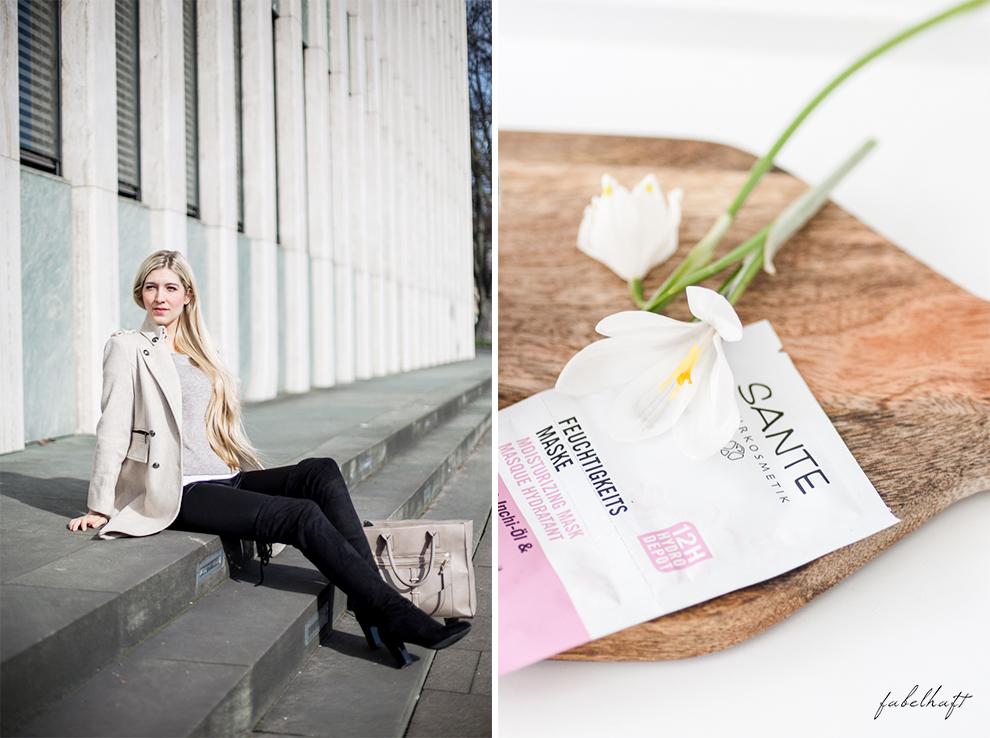 Vivaness Logona Naturkosmetik Santé Blogger Fashion Frühling Outfit Mode Trend Volants Overknees Blond 6