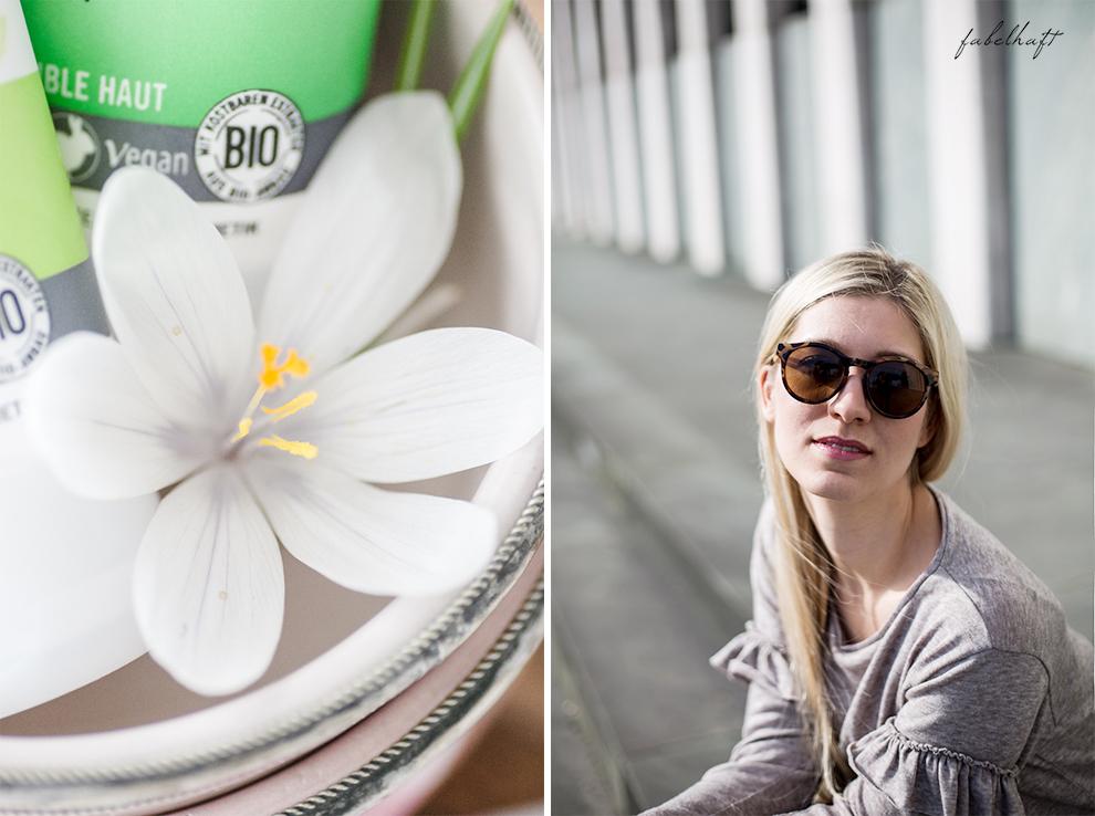 Vivaness Logona Naturkosmetik Santé Blogger Fashion Frühling Outfit Mode Trend Volants Overknees Blond 3