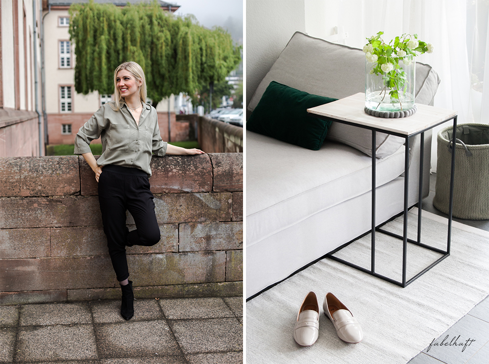 Life hack Outfit Safari Pull up Hose casual interior home louge ikea frühling grau weiß