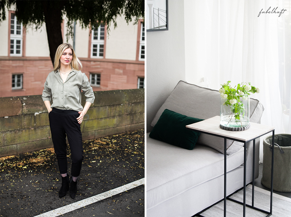 Life hack Outfit Safari Pull up Hose casual interior home louge ikea frühling grau weiß 2