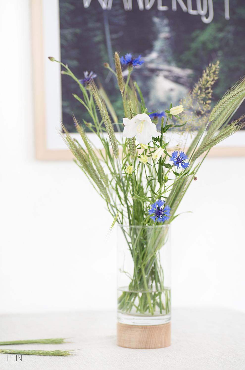 Sommerblumenstaruß Feld Kornblumen