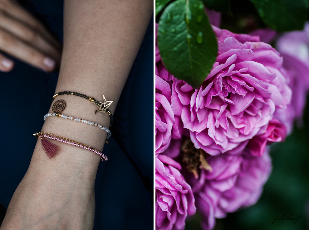 Motmot Jewellery Vintage Garden Armbänder Gold Giveaway Gewinnspiel Kolibri Kranich Origami Armcandy