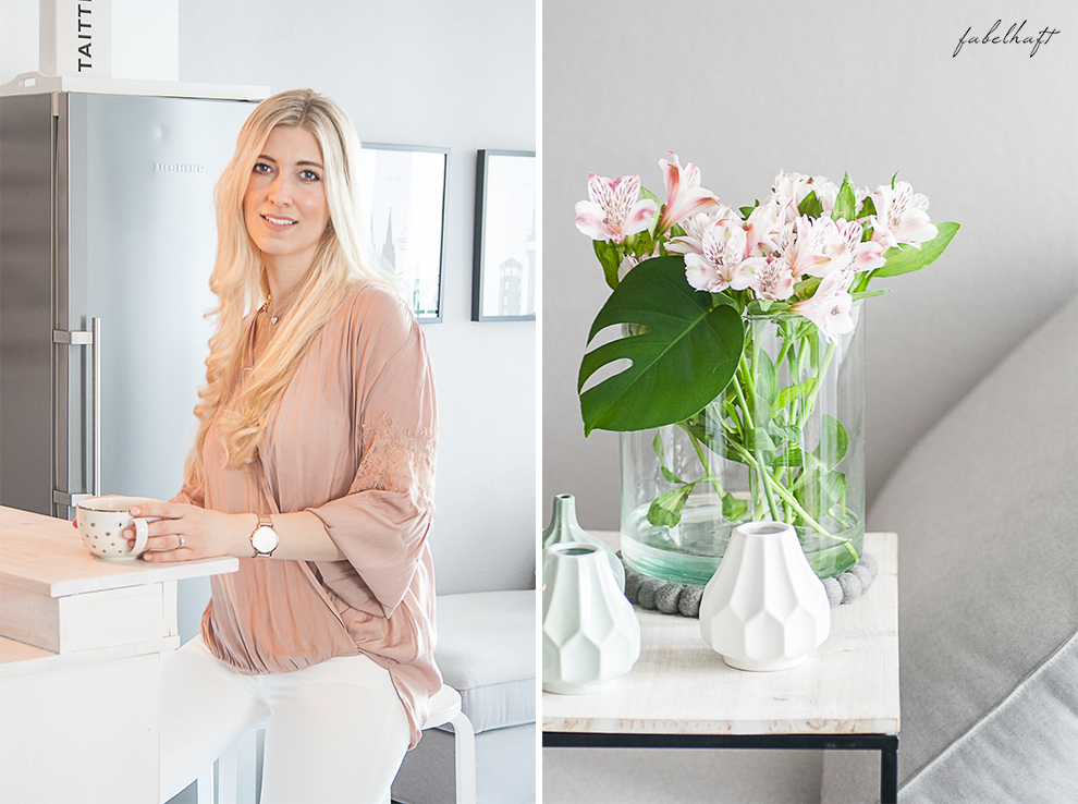 Sommer Pastell Rosegold Blush nude Rosa Interior Küche Testime Lounge grau weiß home Style Fashion Mode Sommertrend 3