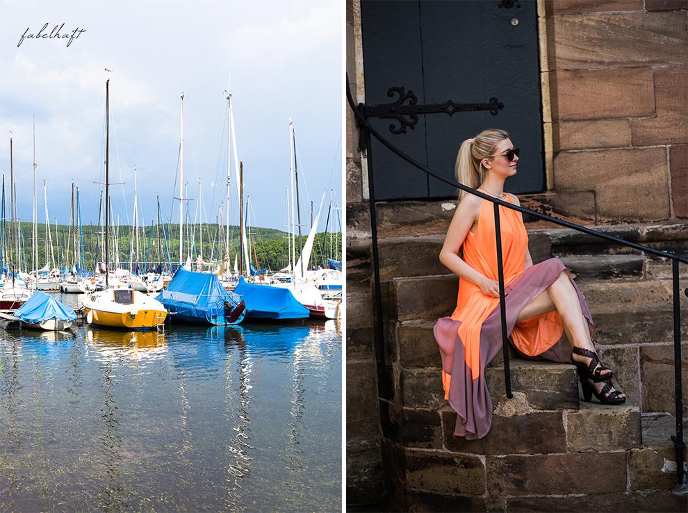 Hochsommer Trend Kleid Sommerkleid Sonnig august Marina Yacht hafen 2