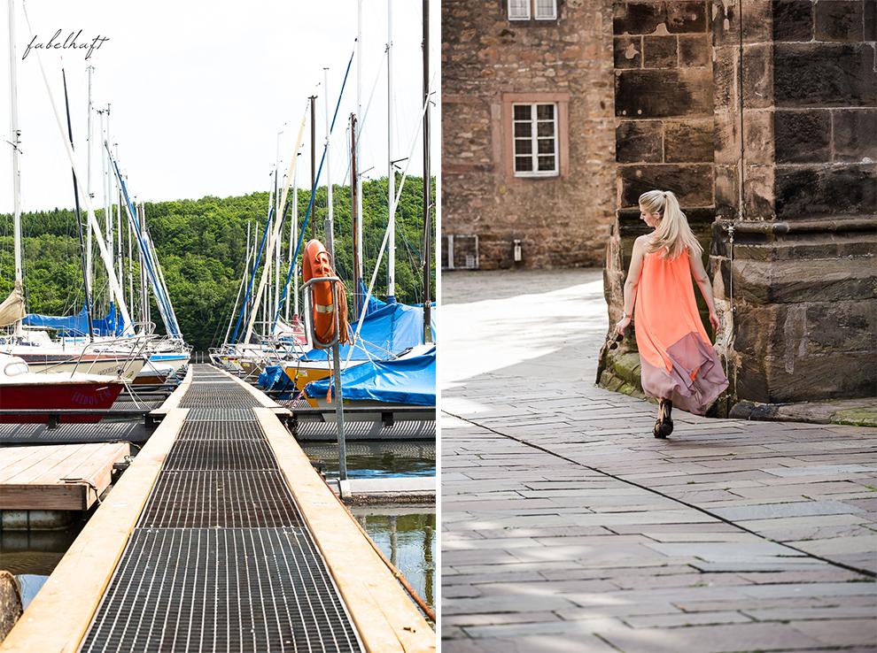 Hochsommer Trend Kleid Sommerkleid Sonnig august Marina Yacht hafen 5