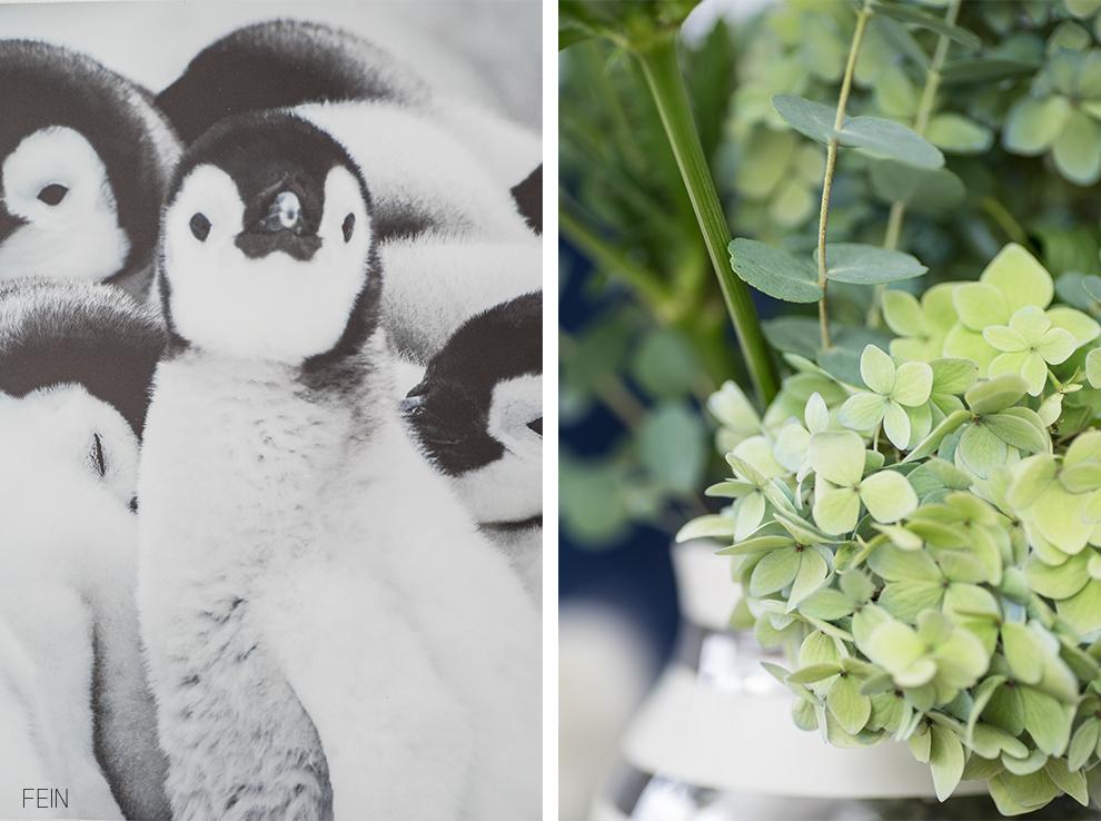 Herbstzeit Kuschelzeit Pinguin