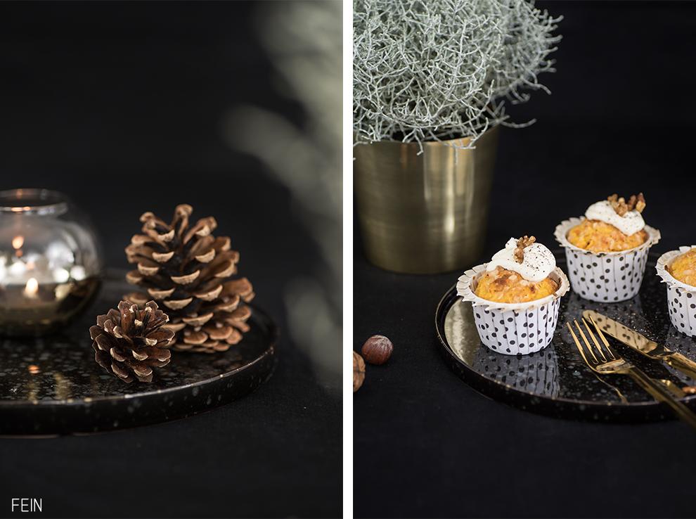 K rbismuffins herbst gold schwarz deko fein und fabelhaft - Deko schwarz gold ...