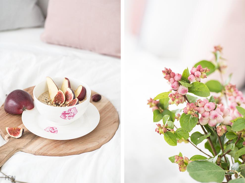 Winter Frühstück im Bett