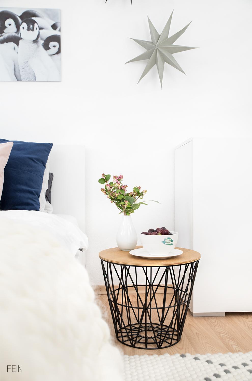 Winter Schlafzimmer cosy scandi