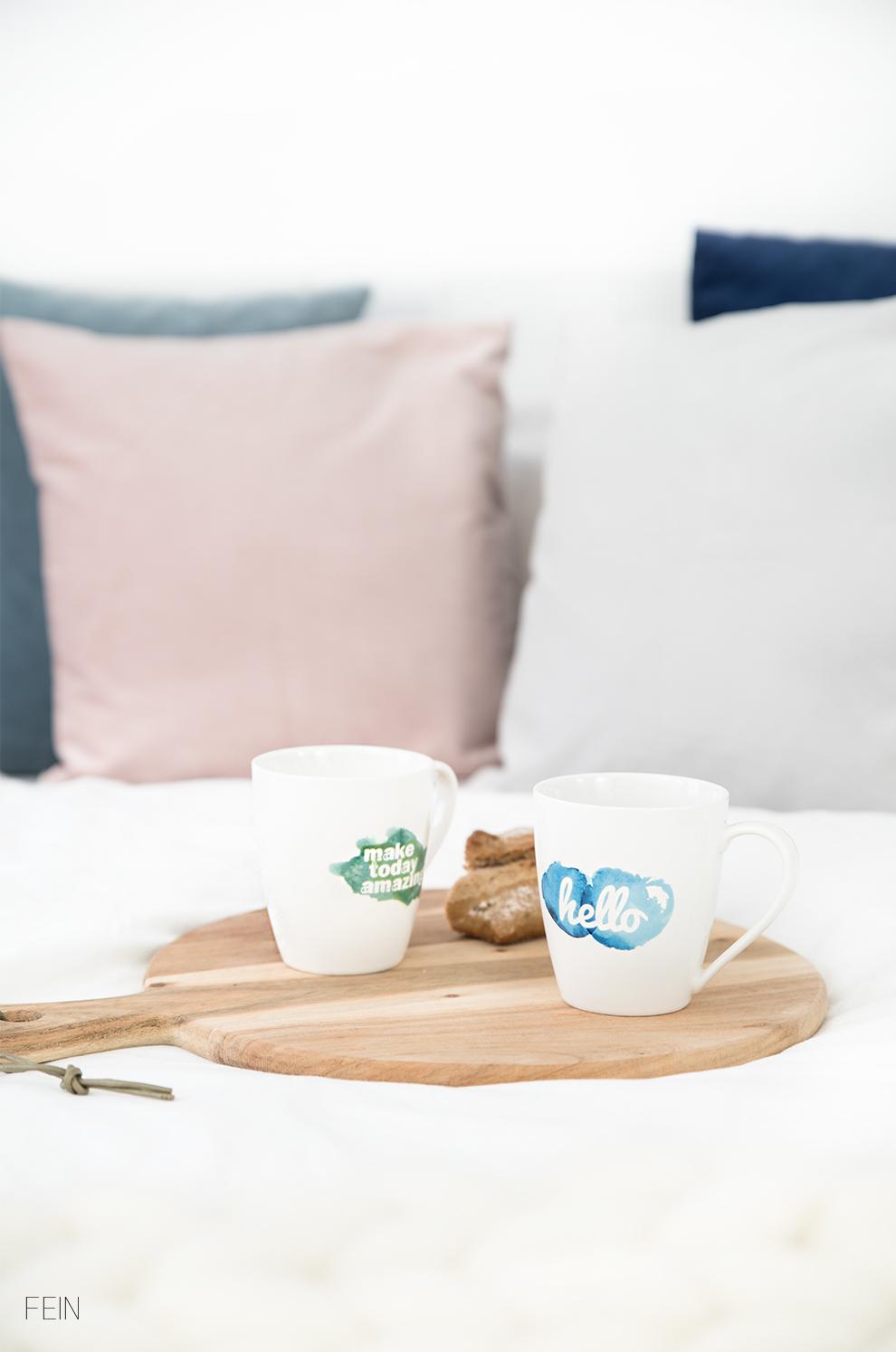 Winter Tee im Bett