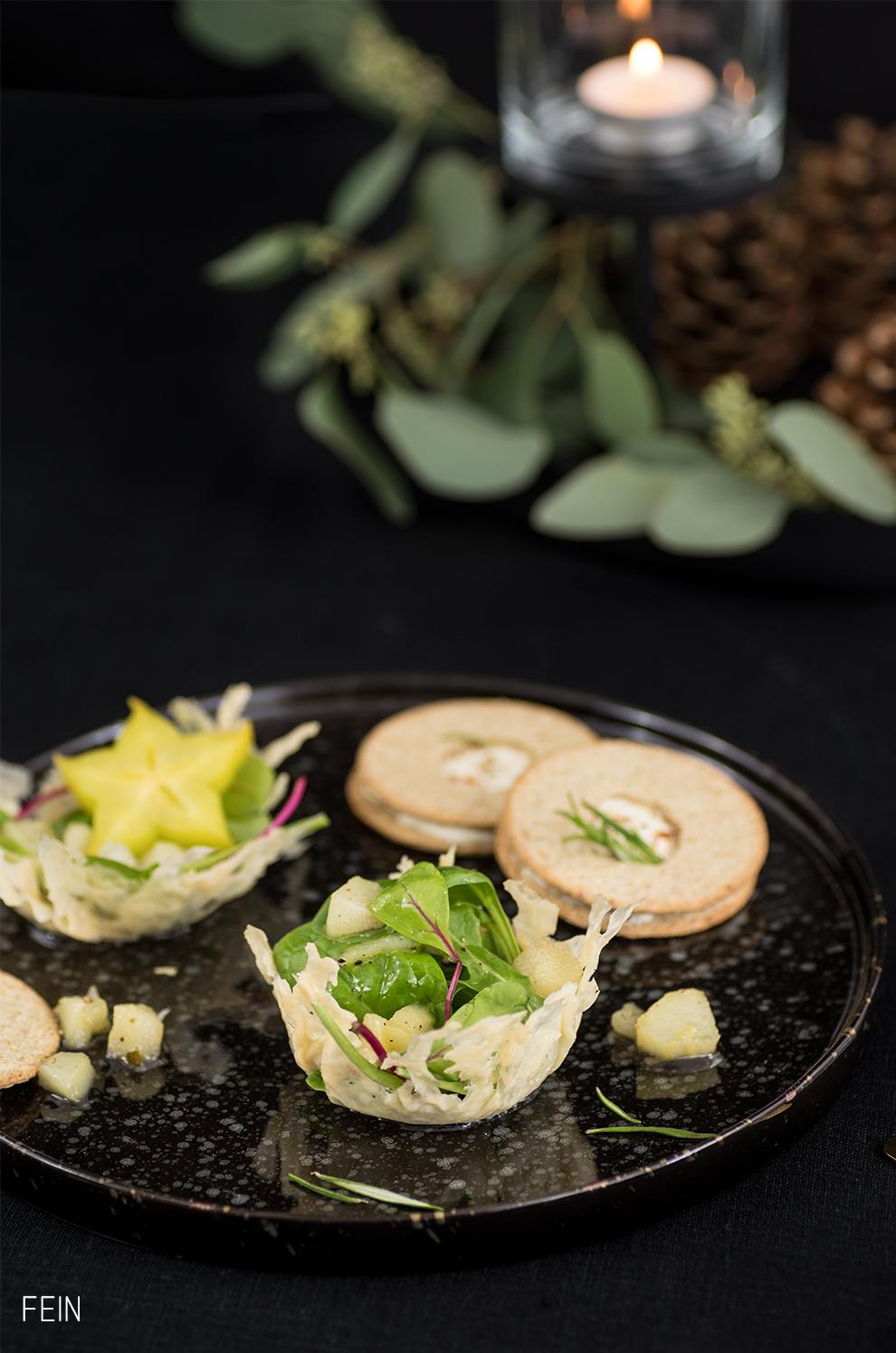 Aperitif Food Parmesankörbchen