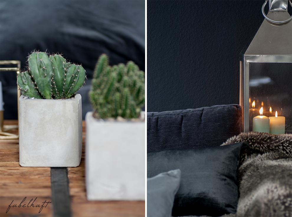 Dark Mood Interior Einrichtung Wohnzimmer dunkel Grau Herbst Winter Samt Trend Deko Gemütlich 7