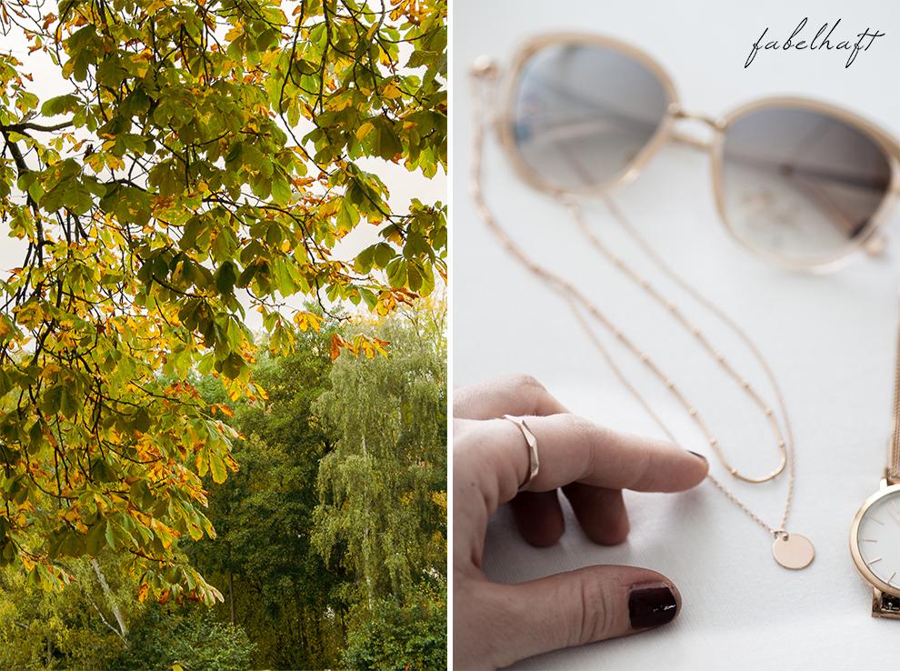 Meinekette Herbst Golden Roségold gemütlich Herbstlaub Talbot Runhof Blond Strick Beige Rollkragen Outfit Trend Mode 21
