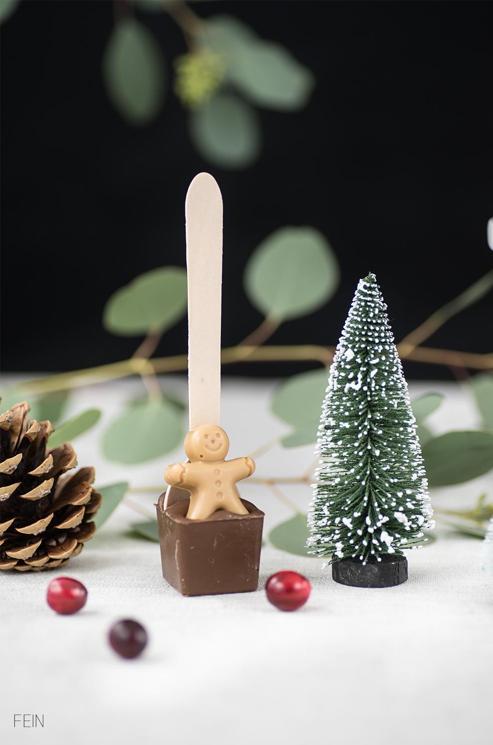 Nikolaus Geschenke Trinkschokolade am Stiel