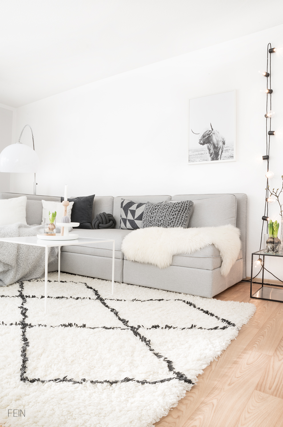 Wohnzimmer Skandinavisch Wohnen - Fein und Fabelhaft