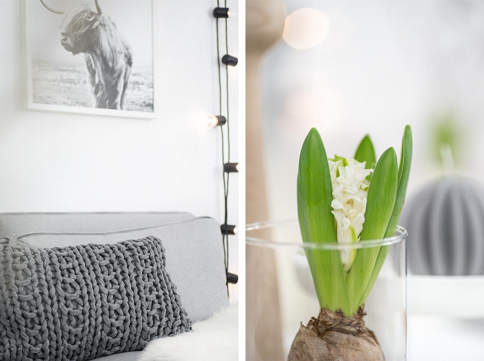 Wohnzimmer Styling Frühling