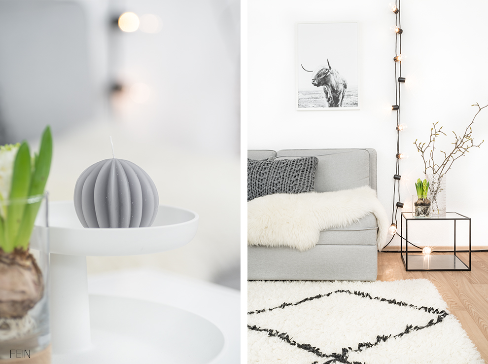 Wohnzimmer Styling white Living