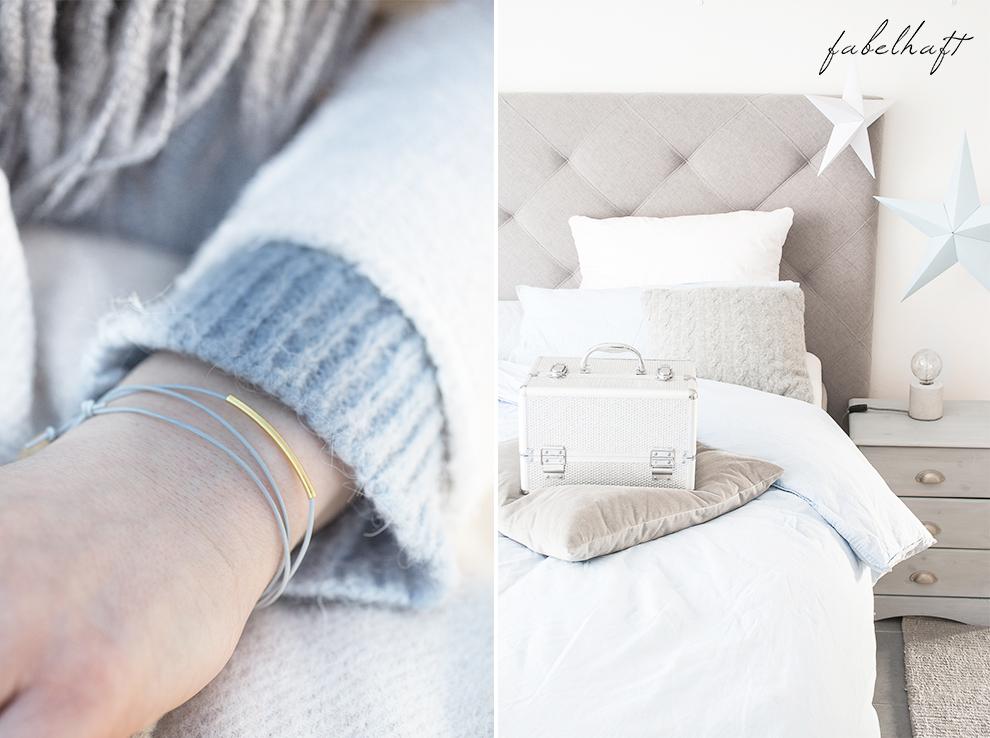 Lumimaja Ohrringe Plättchen Disc Gold Armband Eisblau Januar Winter Schlafzimmer Style Interior Blond Blogger Fashion Trend Mode 40
