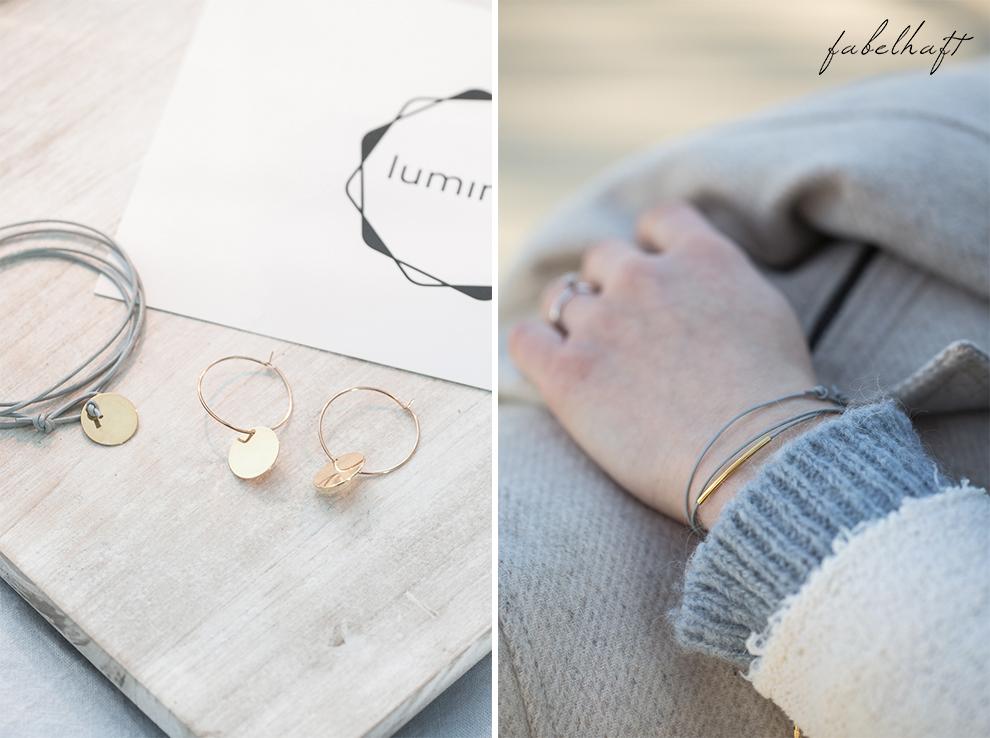 Lumimaja Ohrringe Plättchen Disc Gold Armband Eisblau Januar Winter Schlafzimmer Style Interior Blond Blogger Fashion Trend Mode 6