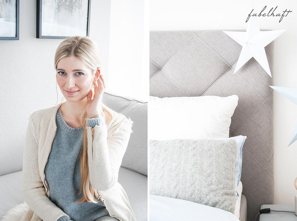 Lumimaja Ohrringe Plättchen Disc Gold Armband Eisblau Januar Winter Schlafzimmer Style Interior Blond Blogger Fashion Trend Mode 2