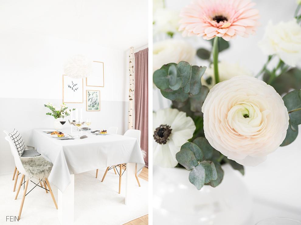 Osterbrunch Blumen Tischdeko