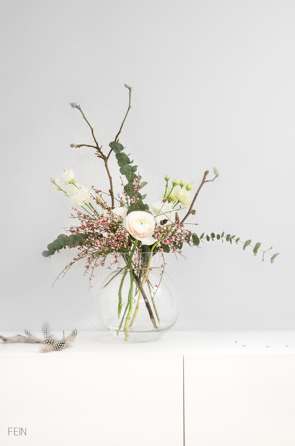 Scandi Stil Blumenstrauß