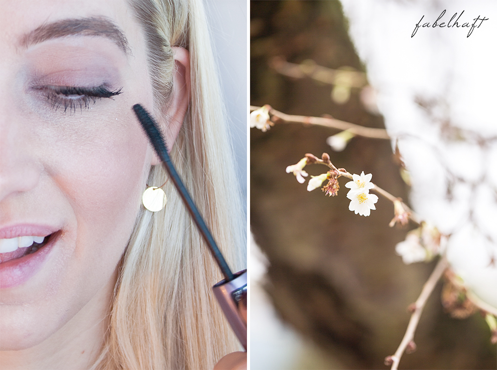 Winterblüte Aquarell MakeUp Lumimaja Plättchen Gold Ohrringe 2