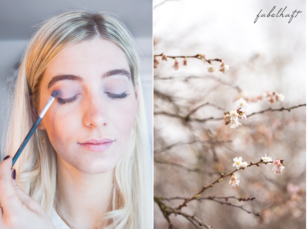Winterblüte Aquarell MakeUp Lumimaja Plättchen Gold Ohrringe 5