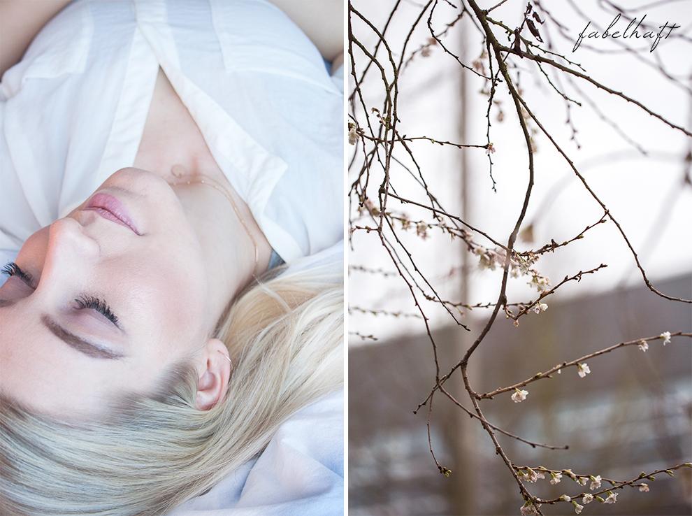 Winterblüte Aquarell MakeUp Lumimaja Plättchen Gold Ohrringe 6