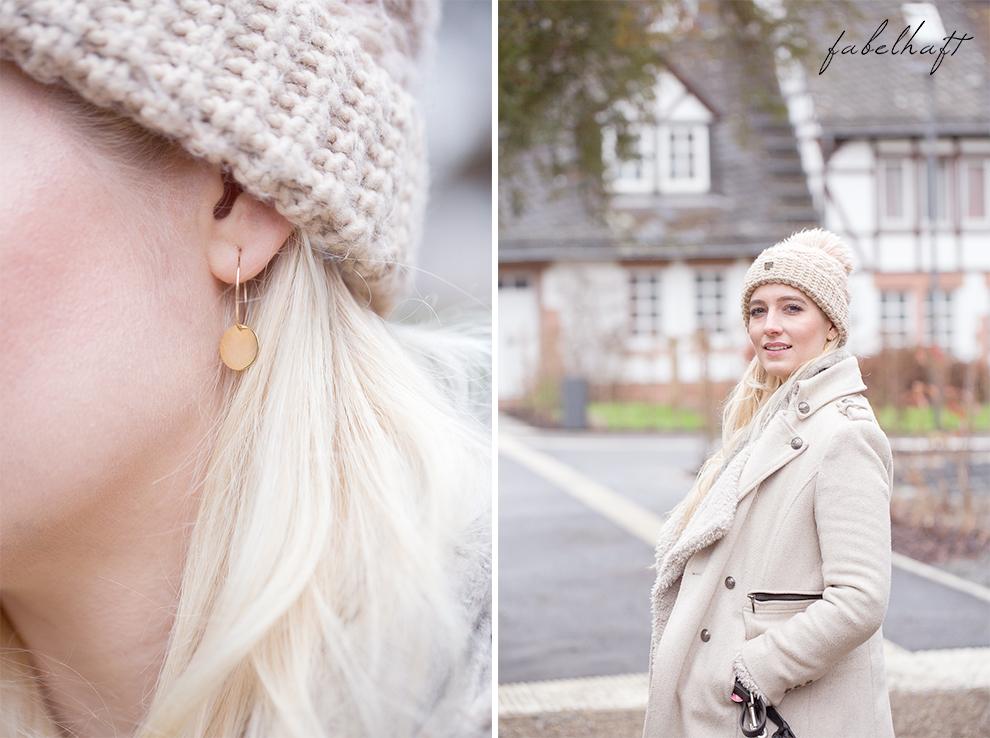 Winterblüte Aquarell MakeUp Lumimaja Plättchen Gold Ohrringe 7