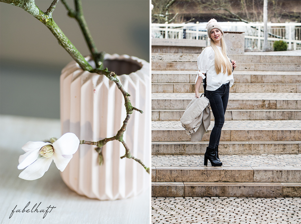 Winter Outfit Schleife Volants Trend Mode Style Magnolien Fashion 3