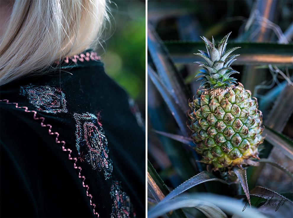 Jungle Trend Samt Bestickt Kleid Grün Tropisch Regenwald botanischer Garten 4